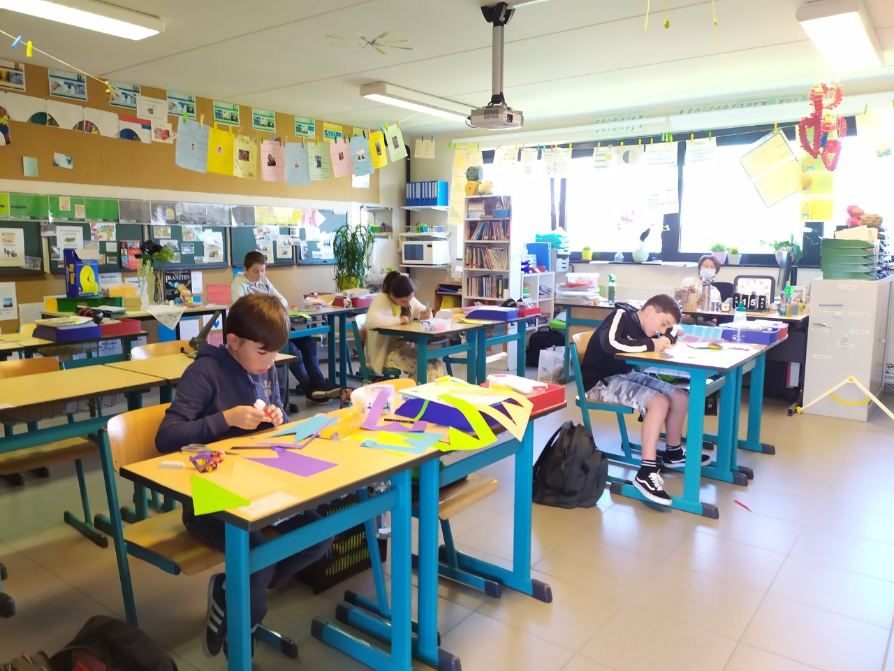 leerlingen in de klas