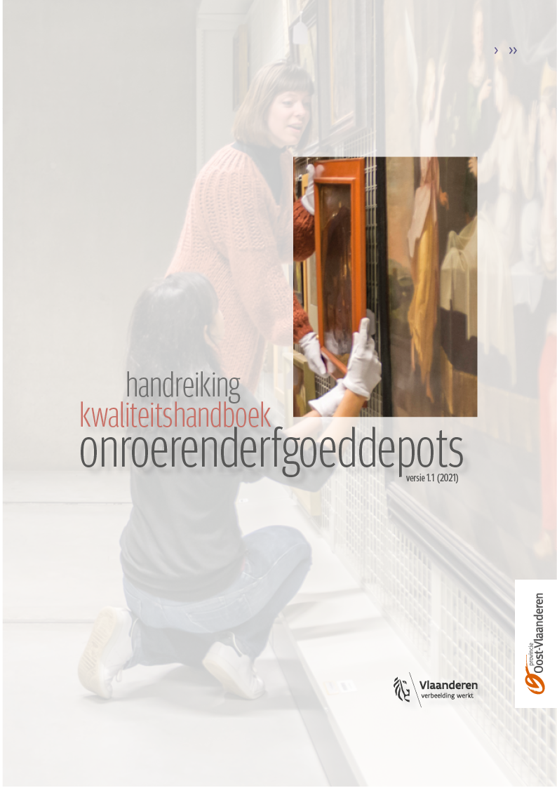 Cover Handreiking kwaliteitshandboek onroerenderfgoeddepots