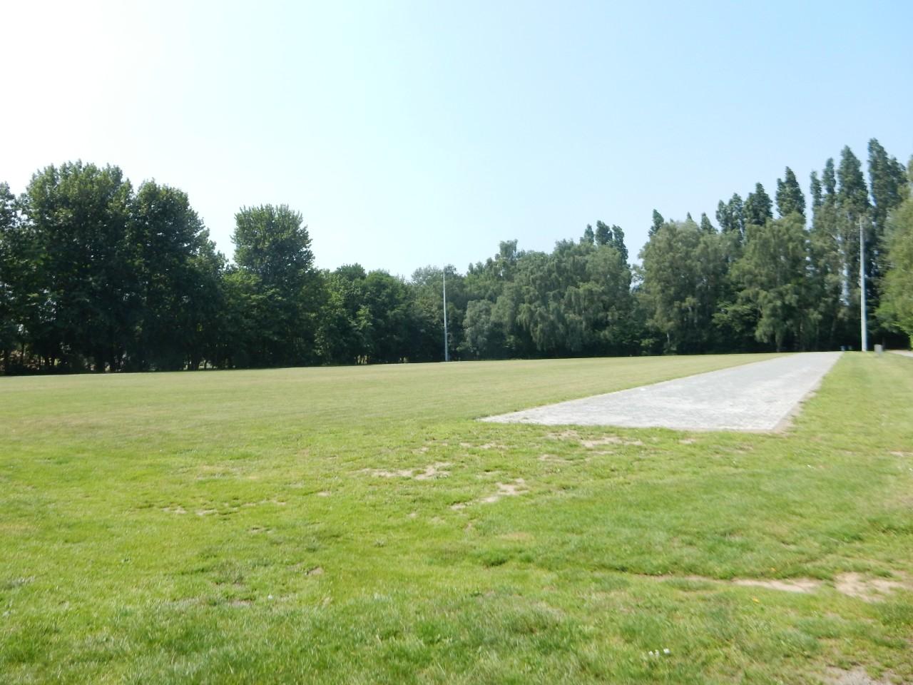grasveld op het evenemententerrein