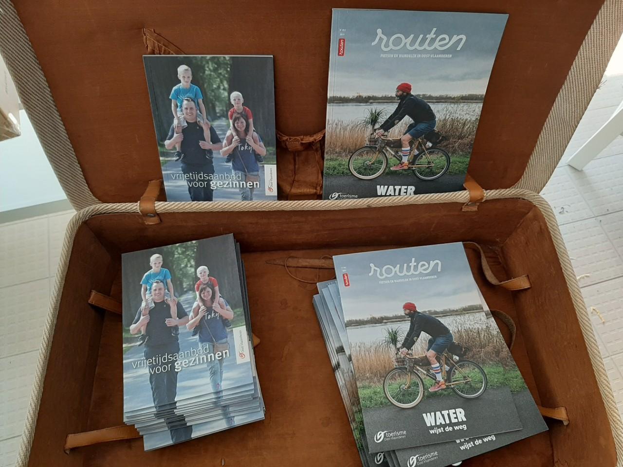 brochures in infokantoor De Gavers