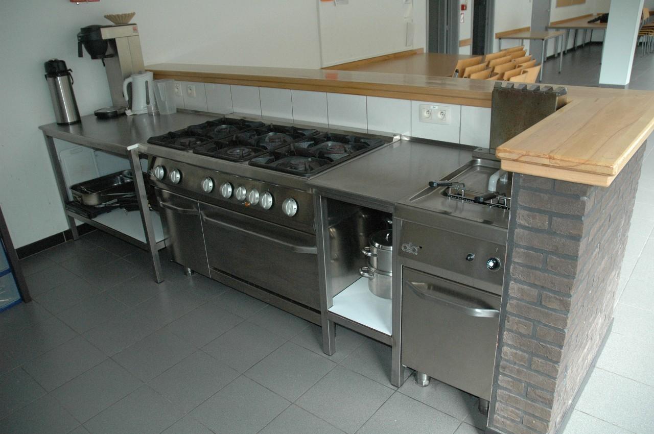 keuken in het verblijfscentrum Heywijck
