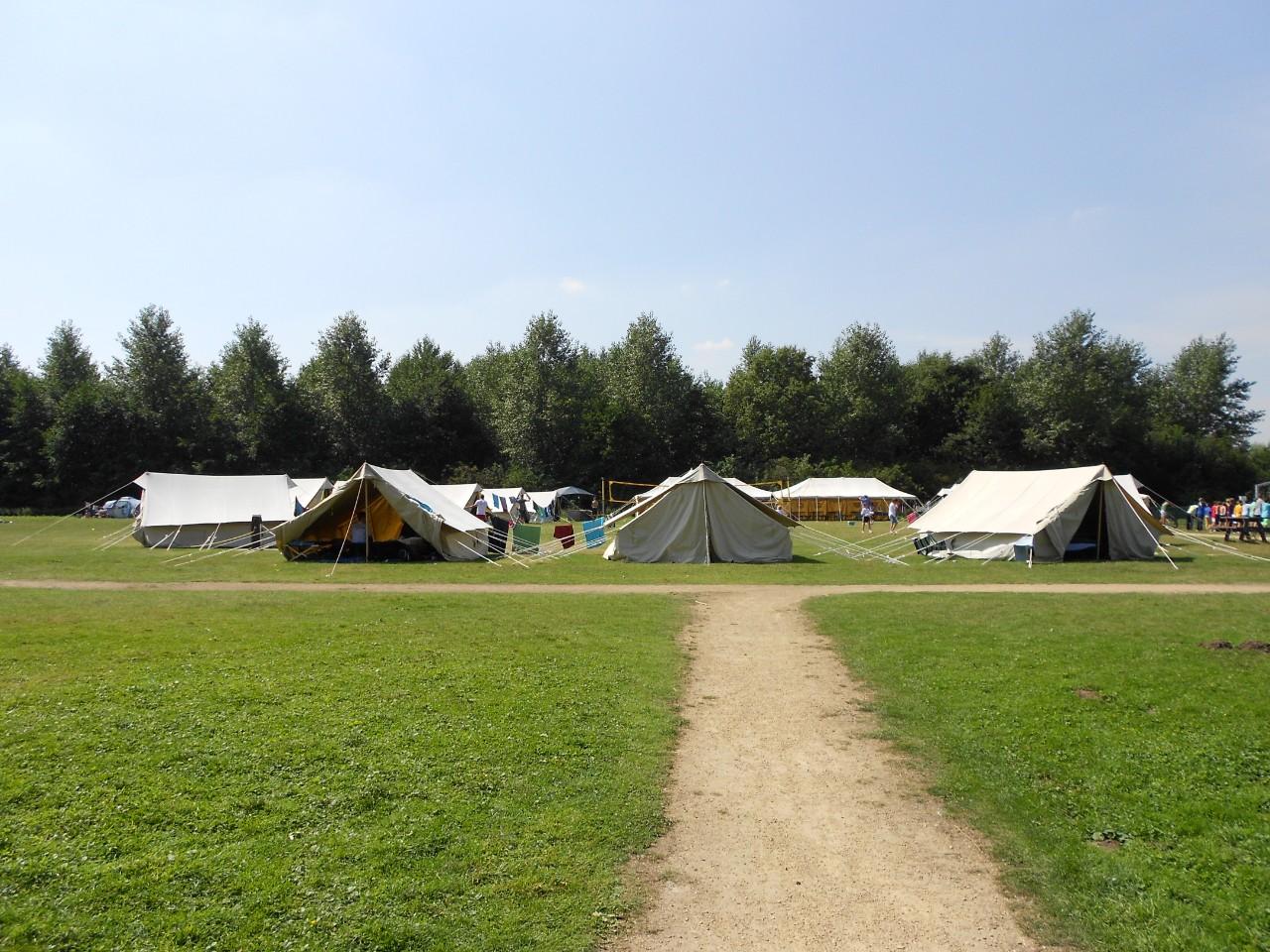 tenten op de camping