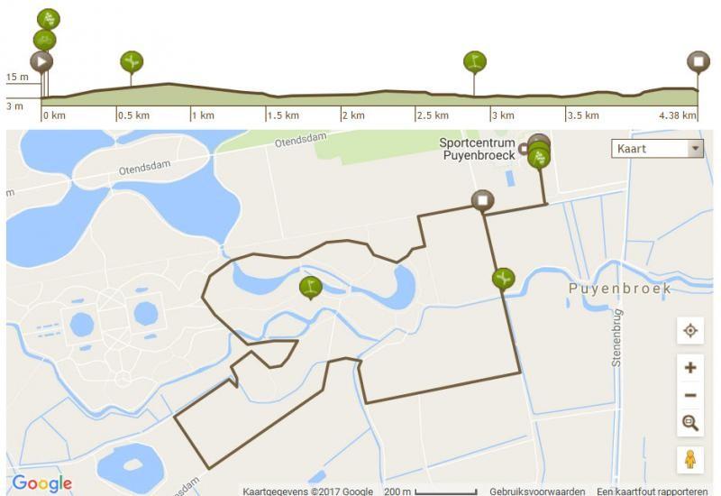 Blauwe route: 5 km
