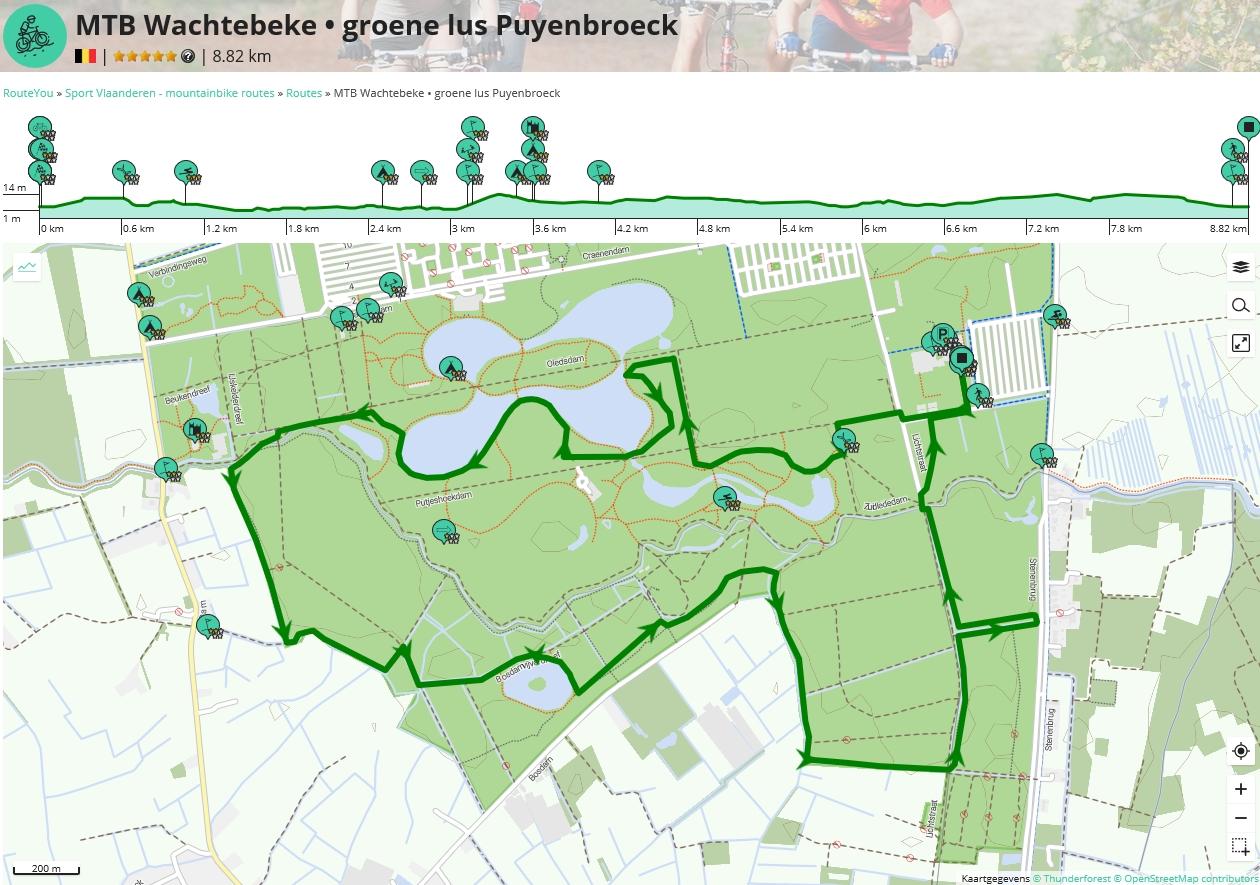 Groene lus: 9 km