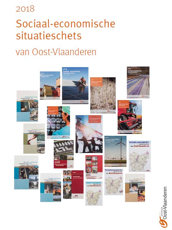 cover brochure Sociaal economische situatieschets 2018 provincie oost vlaanderen dienst economie